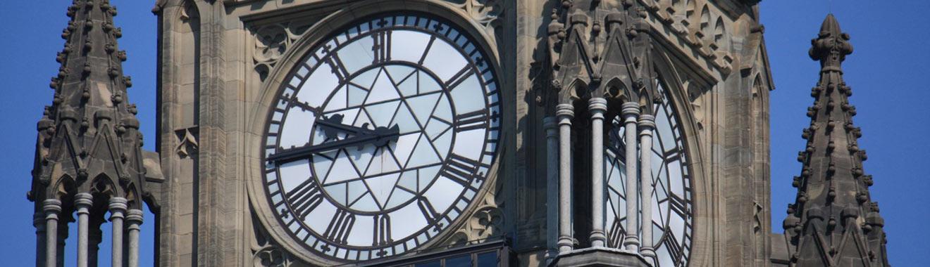 [image] Tour de la Paix, parlement d'Ottawa (détail de l'horloge)
